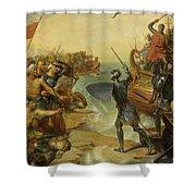 Debarquement De Saint Louis, A Damiette En Egypte, 1249 Shower Curtain