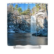 December Morning At Awosting Falls 2018 Shower Curtain