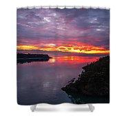 Deception Pass Sunset Landscape Shower Curtain