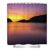 Deception Pass Sunset Serenity Shower Curtain