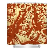 Decoratively Historic Shower Curtain