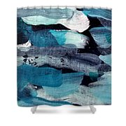 Deep Blue #1 Shower Curtain