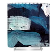Deep Blue #3 Shower Curtain by Maria Langgle