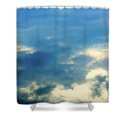 Deep Blue Sky Shower Curtain