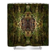 Deep Jungle Temple With Lanterns Shower Curtain