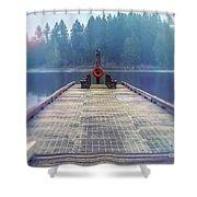 Deep Lake Dock  Shower Curtain