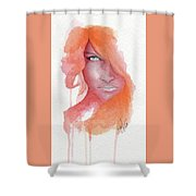 Deep Orange Shower Curtain