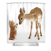 Deer Little Friend Shower Curtain