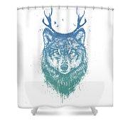 Deer Wolf Shower Curtain