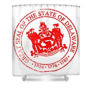 Delaware Seal Stamp Shower Curtain