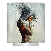 Deliberation Shower Curtain