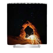 Delicate Arch Steel Wool Shower Curtain
