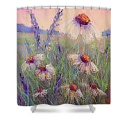 Delicate Daisies Shower Curtain