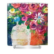 Delightful Bouquet 2- Art By Linda Woods Shower Curtain