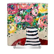 Delightful Bouquet 5- Art By Linda Woods Shower Curtain