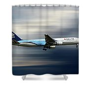 Delta Air Lines Boeing 767-332 Shower Curtain