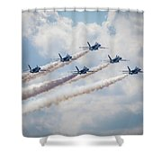 Delta Contrast Shower Curtain
