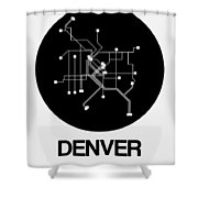 Denver Black Subway Map Shower Curtain