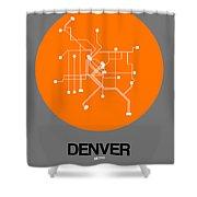 Denver Orange Subway Map Shower Curtain