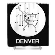 Denver White Subway Map Shower Curtain