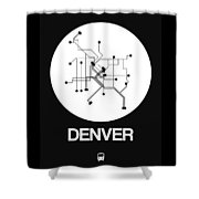 Denver White Subway Map Shower Curtain