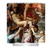 Deposition From The Cross Shower Curtain