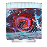 Depression And Me Two Fishes Shower Curtain