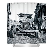 Depression Era Dust Bowl Car Shower Curtain