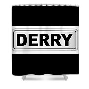 Derry City Nameplate Shower Curtain