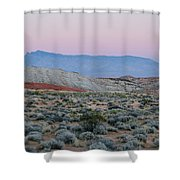 Desert On Fire No.2 Shower Curtain