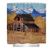 Deserted Barn Shower Curtain