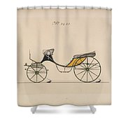 Design For Cabriolet Or Victoria, No. 3221 Brewster And Co. American, New York Shower Curtain