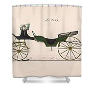 Design For Cabriolet Or Victoria, No. 3459  1875 Shower Curtain