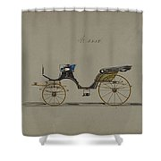 Design For Cabriolet Or Victoria, No. 3558  1879 Shower Curtain