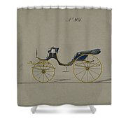 Design For Cabriolet Or Victoria, No. 3696 Shower Curtain