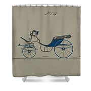 Design For Cabriolet Or Victoria, No. 3719 Brewster And Co. American, New York Shower Curtain