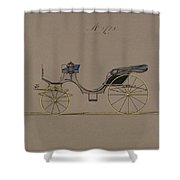 Design For Cabriolet Or Victoria, No. 3723  1881 Shower Curtain