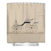 Design For Driving Phaeton Unnumbered Brewster And Co. American, New York Shower Curtain