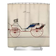 Design For Eight Spring Victoria, No. 1056   B. Wegers American, Active 1850-75 Shower Curtain
