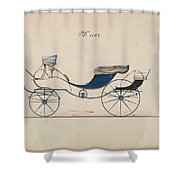 Design For Eight Spring Victoria, No. 1103 Brewster And Co. American, New York Shower Curtain