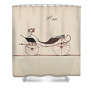 Design For Eight Spring Victoria, No. 966  1850-74 Shower Curtain