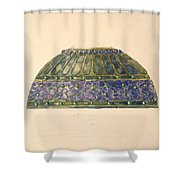 Design For Floral Lamp  Louis Comfort Tiffany American, New York 1848-1933 New York Shower Curtain