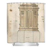 Design For Font Cover Ernest Geldart British, Londn 1848-1929 Shower Curtain
