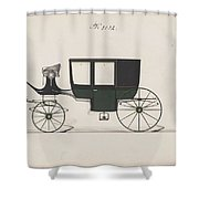 Design For Glass Panel Coach, No. 3132 1875 Shower Curtain