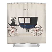 Design For Glass Panel Coach, No. 3133  1875 Shower Curtain