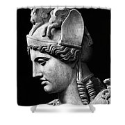 Detail Of The Face Of Athena Farnese Shower Curtain