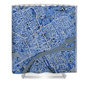 Detroit Map Retro 5 Shower Curtain
