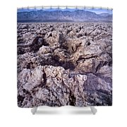 Devil's Golf Course Cloudy Morning Shower Curtain