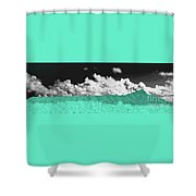 Diamond Head Crater In Abstract Shower Curtain
