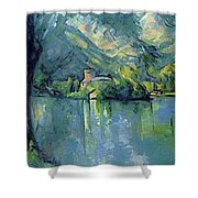 Lake Annecy - Digital Remastered Edition Shower Curtain